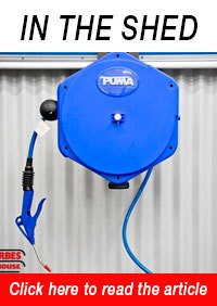 AR-P10 Air Hose Reel Including Dusting Gun
