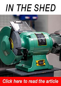 X8-PLUS Industrial Bench Grinder with Linisher & Mitre Table