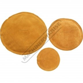 Round Leather Bags - Sand