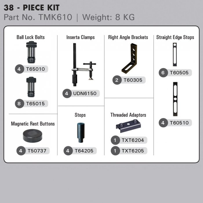 10 Piece BuildPro™ Table Joining Kit